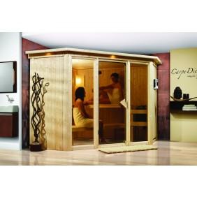 Karibu Sauna Flora 2 mit Fronteinstieg 68 mm