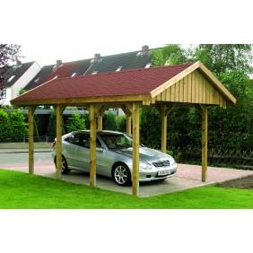 Skan Holz Sauerland - Satteldach Einzelcarport Breite 380 cm