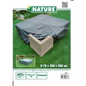 Nature Schutzhülle Palermo Lounge für Gartenmöbel Set Stuhl + Tischhülle 240g/m²