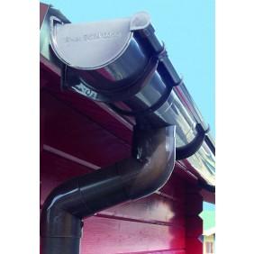 Kunststoff Dachrinnenset 403A für Pultdach/Flachdach Gartenhäuser