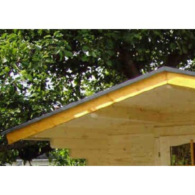 Giebel/Ortgang-Abdeckung für Satteldach-Gartenhäuser (1 Stück)