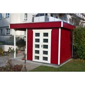 Skan Holz 28 mm Blockbohlenhaus Venlo2 schwedenrot