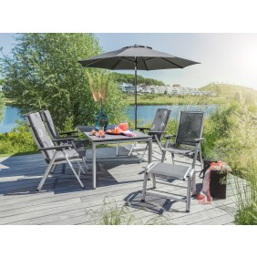Kettler Vista Dining Gartenmöbel Set inkl. 4 Stühle, 2 Hocker, 1 Tisch - Restposten