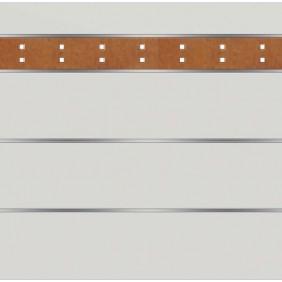 elevato Zaunserie Baveno Typ 3.1 Weiß/Corten-Stahl