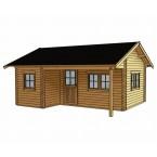 Skan Holz 70 mm Blockbohlenhaus Ontario Zeichnung