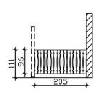 Skan Holz Seitenwand Balkonschalung für Terrassenüberdachung Leimholz + Venezia