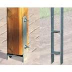 Weka H-Anker-Set für Doppelcarport 616 (6 Anker für 9 x 9 cm Pfosten)