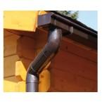 Kunststoff Dachrinnenset für Skan Holz Terrassenüberdachung Pisa aus Nadelholz