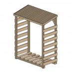 Weka Brennholzlager 663 A kesseldruckimprägniert 19 mm Zeichnung