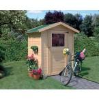 Karibu Eco Gartenhaus Gerätehaus Relin 1/2 - 14 mm (Abb. inkl. Zubehör: Dachschindeln)