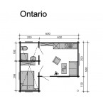 Skan Holz 70 mm Blockbohlenhaus Ontario Grundriss