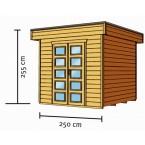 Skan Holz 28 mm Blockbohlenhaus Venlo1 Zeichnung
