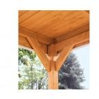 Skan Holz Pavillon Laube Toulouse Balkenansicht