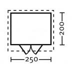 Skan Holz 28 mm Blockbohlenhaus Palma Grundriss Größe 1