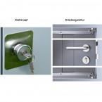 Biohort Gerätehaus Avantgarde Drehkknopf / Drückergarnitur