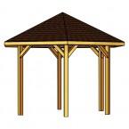 Skan Holz Pavillon Nancy-Zeichnung