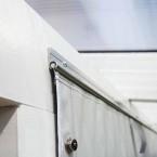 Skan Holz Polyester Partyzeltwände für Terrassenüberdachungen aus Douglasie für die Seite