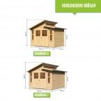 Karibu Eco Gerätehaus Grafenau/Grauburg 6/7