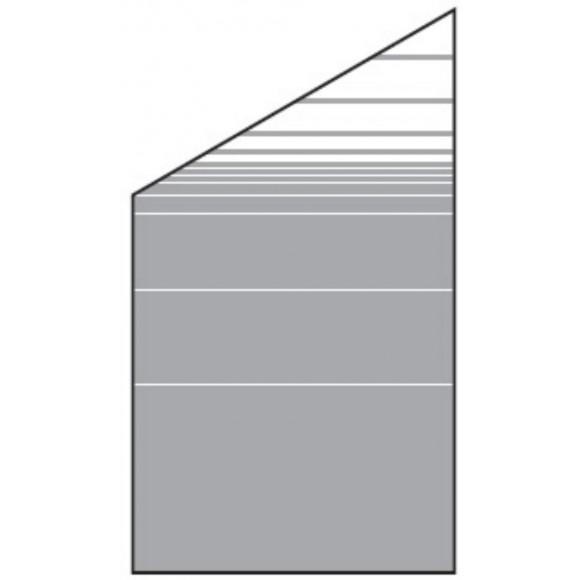 T J Vetro Glas Sichtschutz Streifen Dekor Typ Schrag 120 180