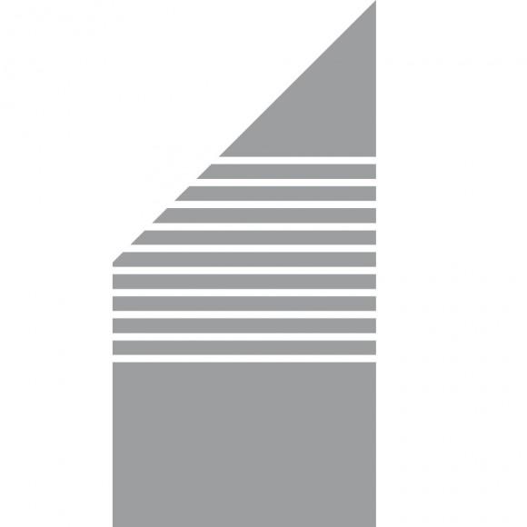 Groja Ambiente Glas Sichtschutz Typ Schrag Links 90x180 90