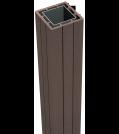 GroJa Solid Fertigzaun Pfosten 7 x 7 cm Terra