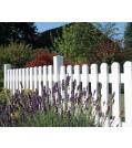 GRoJaExklusiv Gartenzaun Kunststoff gerader Verlauf 74 cm 3 Farben