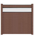 GroJa Solid Stecksystem Bausatz inkl. Glas-Designeinsatz 30cm terra