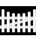 GroJa BasicLine Gartenzaunpforte Kunststoff 1-flügelig Bogen unten