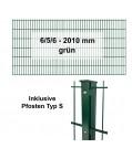 Kraus DS 6/5/6 grün - Pfosten S - Komplettset 2 - 50 Meter