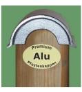 Kokille Pfostenkappe Rondo ALuminium