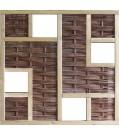 T&J LABO-3D Weidengeflechtzaun 180x180 mit 4 Fenster
