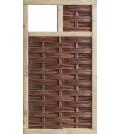 T&J LABO-3D Weidengeflechtzaun 94x180 mit 1 Fenster oben