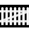 GroJa BasicLine Gartenzaunpforte Kunststoff 1-flügelig gerader Verlauf