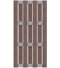 GroJa Solid Zaunelement Typ Hochkant Terra