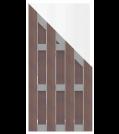 GroJa Solid Zaunelement Typ Schräg 90x180/90