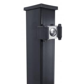 Kraus DS Pfosten P 60x40 mm mit Klemmhalter + Edelstahlplättchen - zum Einbetonieren