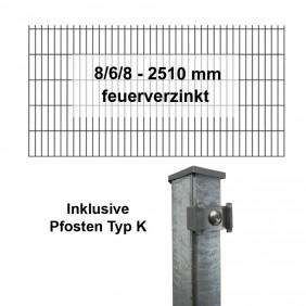 Kraus DS 8/6/8 - 2510 mm feuerverzinkt Pfosten K Komplett