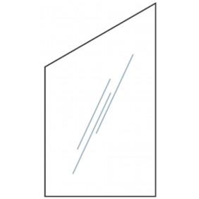 T&J VETRO Glas-Sichtschutz Uni Typ Schräg 120/180