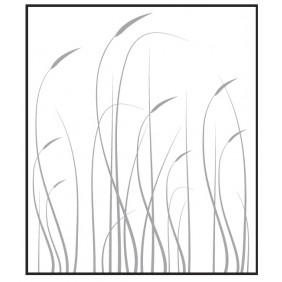 T&J VETRO Glas-Sichtschutz mit Lasergravur Typ Rechteck 180