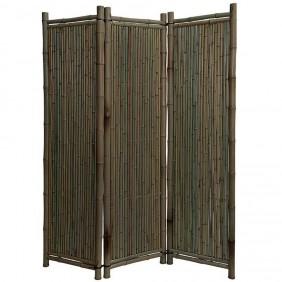 Noor Bambus-Pravent Black Edition 180 x 180 cm 3-teilig