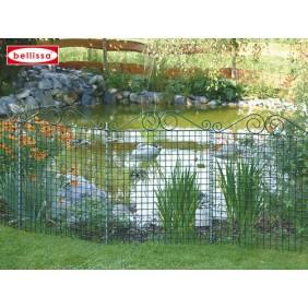 bellissa Teichschutzzaun Ambiente mit Schnörkel