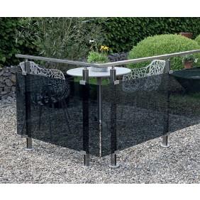 Geländer-Komplettset Aluminium Acrylglas