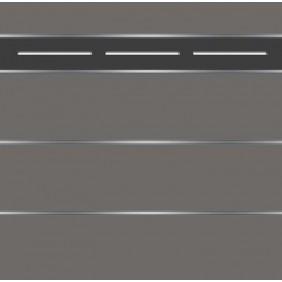 elevato Zaunserie Baveno Typ 3.12 Anthrazit/Alu Schwarz
