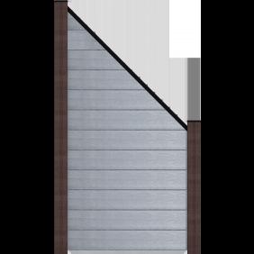 GroJa Solid Stecksystem Bausatz Abgeschrägt Steingrau