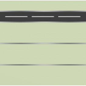 elevato Zaunserie Baveno Typ 3.11 Mint/Alu Schwarz