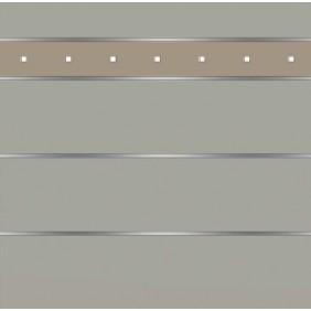 elevato Zaunserie Baveno Typ 3.14 Steingrau/Alu Beige