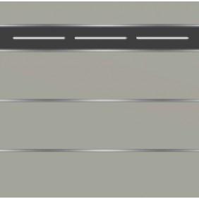 elevato Zaunserie Baveno Typ 3.10 Steingrau/Alu Schwarz