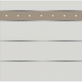 elevato Zaunserie Baveno Typ 3.13 Weiß/Alu Beige