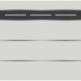 elevato Zaunserie Baveno Typ 3.9 Weiß/Alu Schwarz