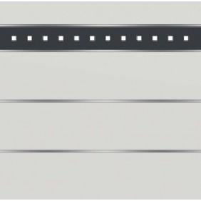 elevato Zaunserie Baveno Typ 3.5 Weiß/Alu Anthrazit
